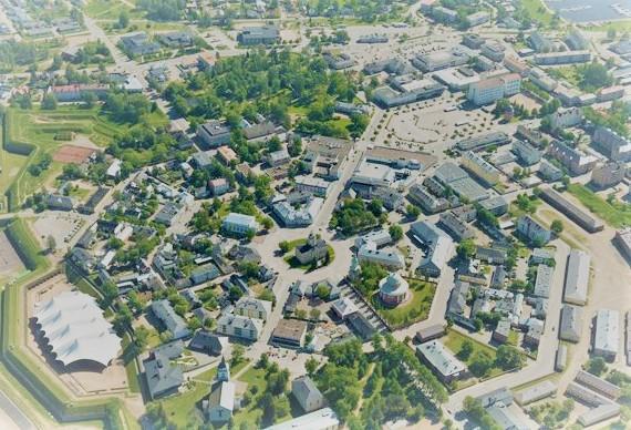La ville d'Hamina en Finlande